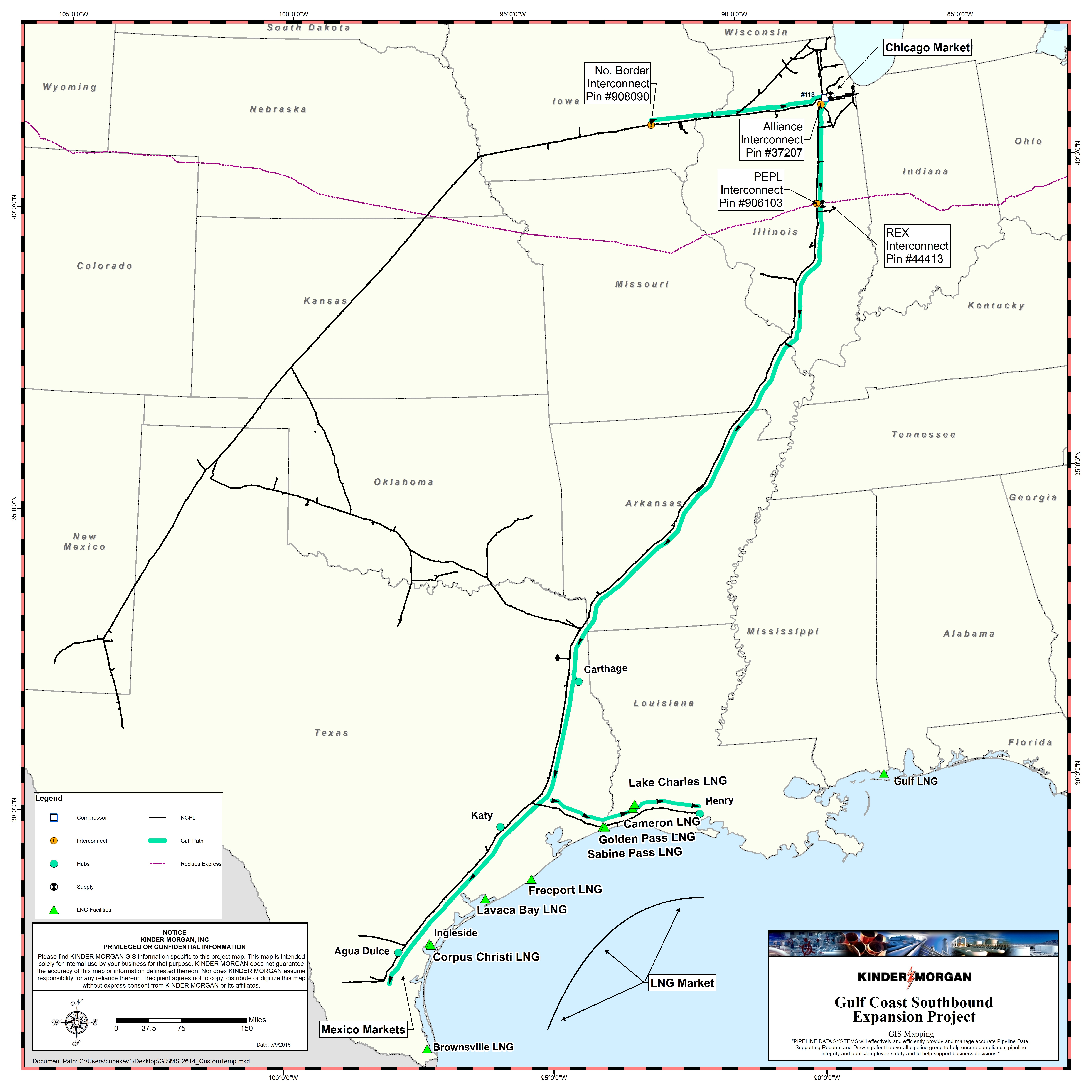 Turbine Powered pression For Gulf Coast Expansion Project