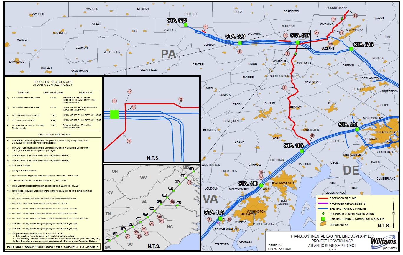 Atlantic Sunrise Natural Gas Pipeline Expansion